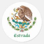 Mexicano Eagle de Estrada Pegatina Redonda