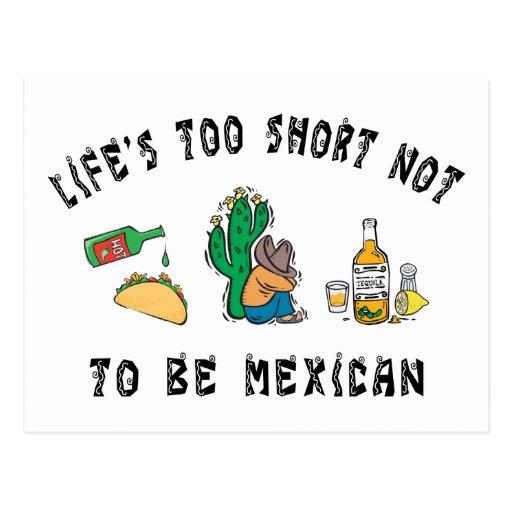 Mexicano muy divertido tarjetas postales