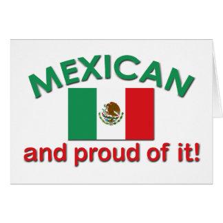 Mexicano orgulloso tarjeta de felicitación