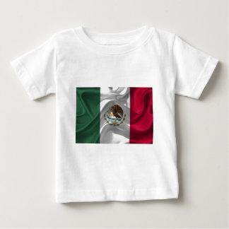 México-Bandera Camiseta De Bebé