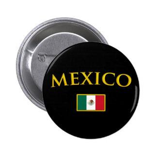 México de oro chapa redonda de 5 cm