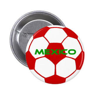 México - fútbol pins