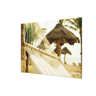 México, Playa del Carmen, hamaca en la playa Impresiones En Lona