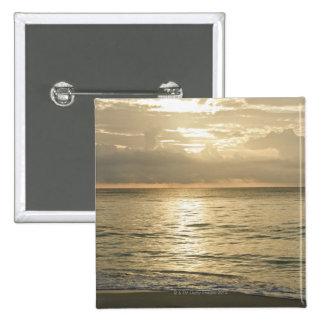 México, Playa del Carmen, paisaje marino 3 Chapa Cuadrada 5 Cm