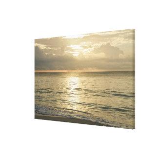 México, Playa del Carmen, paisaje marino 3 Impresión En Tela