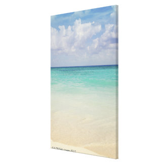 México, Playa del Carmen, paisaje marino Lona Envuelta Para Galerias