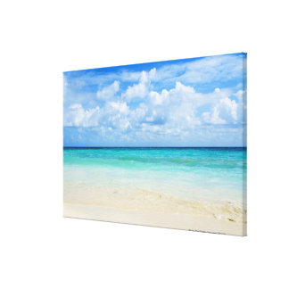 México, Playa del Carmen, playa tropical Impresión En Lona Estirada