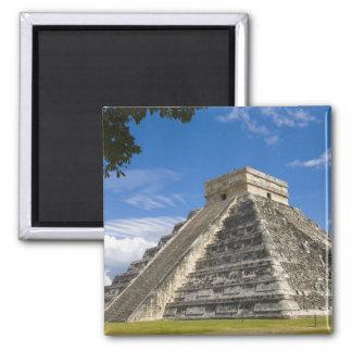 México, Quintana Roo, cerca de Cancun, Chichen 5 Imán Cuadrado