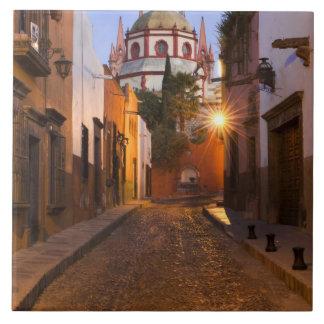 México, San Miguel de Allende. Madrugada Azulejo Cuadrado Grande
