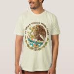 México - sello de los mexicanos de los unidos de camiseta
