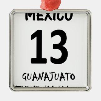 MÉXICO TIENE MAGIA.png Adorno Navideño Cuadrado De Metal