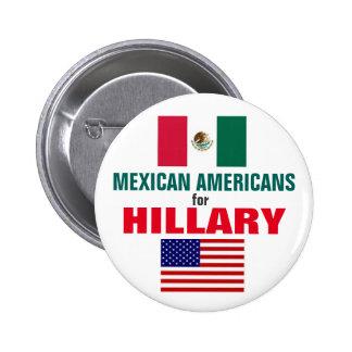 Mexicoamericanos para Hillary 2016 Chapa Redonda De 5 Cm