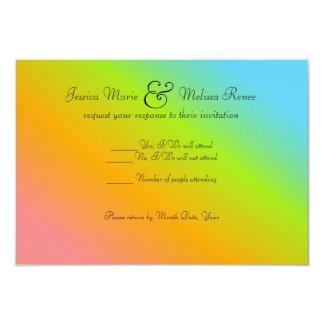 Mezcla del arco iris - RSVP Invitación 8,9 X 12,7 Cm