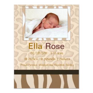 Mezcla del safari - nacimiento del bebé de la invitaciones personalizada