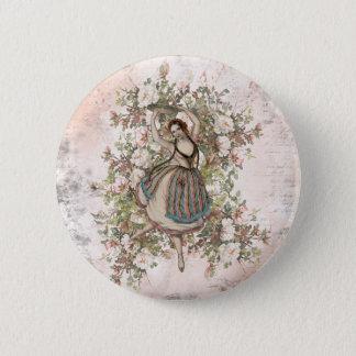 Mezcla y partido florales gitanos del baile del chapa redonda de 5 cm