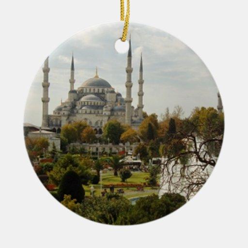 Mezquita azul ornamentos de navidad zazzle - Ornamentos de navidad ...