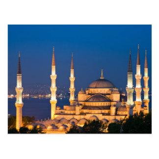 Mezquita de Ahmed del sultán durante la postal