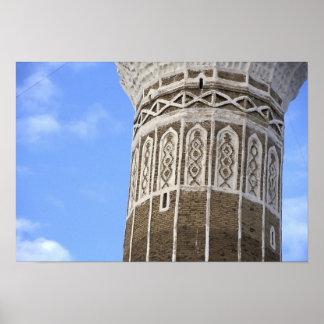 Mezquita de Bakiriya del Al en Sana'a viejo, Yemen Póster