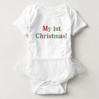 ¡Mi 1r navidad! Body Para Bebé