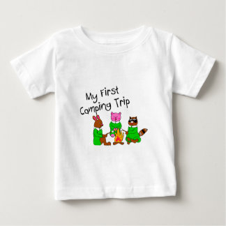 Mi 1ra acampada camiseta de bebé