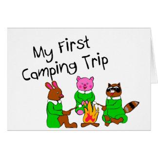 Mi 1ra acampada tarjeta de felicitación