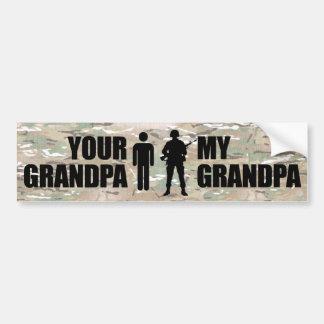 Mi abuelo está en los militares pegatina para coche