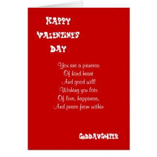 Mi ahijada el el día de San Valentín Felicitaciones