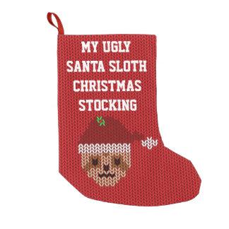 Mi almacenamiento feo del navidad de la pereza de calcetín de navidad pequeño