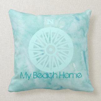 Mi almohada de la acuarela del hogar de la playa