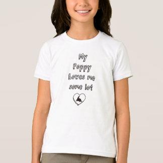 Mi amapola me ama una cierta porción camiseta