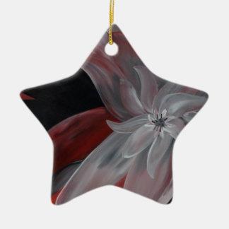 Mi amor adorno navideño de cerámica en forma de estrella