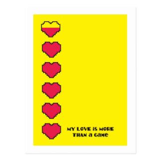 Mi amor es más que corazones del juego de un juego postal