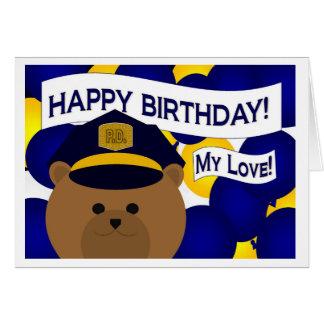 ¡Mi amor - héroe de la policía del feliz Tarjeta De Felicitación
