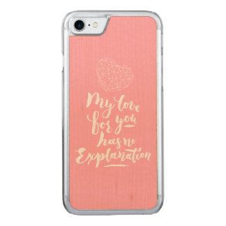 Mi amor para usted no tiene ninguna explicación funda para iPhone 7