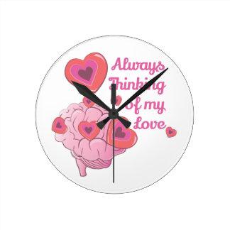 Mi amor reloj redondo mediano