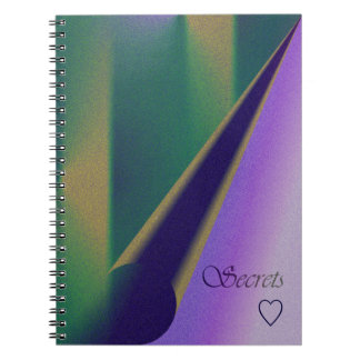 Mi amor, secretos libro de apuntes con espiral