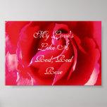 Mi amor tiene gusto de un rosa rojo rojo posters
