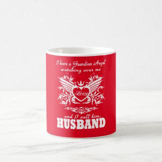 Mi ángel de guarda, mi marido taza clásica