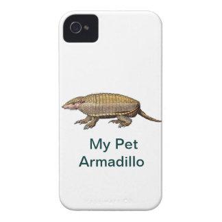 ¡Mi armadillo del mascota - lindo y mimoso - SÍ Case-Mate iPhone 4 Protectores