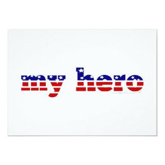 Mi azul blanco rojo patriótico de las barras y invitación 12,7 x 17,8 cm