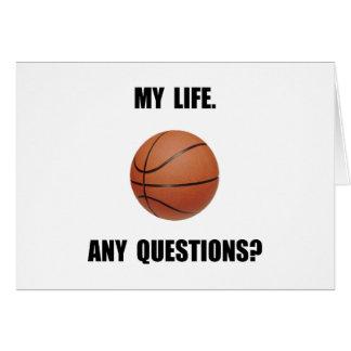 Mi baloncesto de la vida tarjeta pequeña