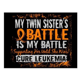 Mi batalla hermana gemela de demasiado 2 leucemias postal