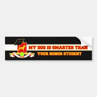 Mi beagle es más elegante etiqueta de parachoque