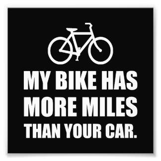 Mi bici más millas que el coche impresion fotografica
