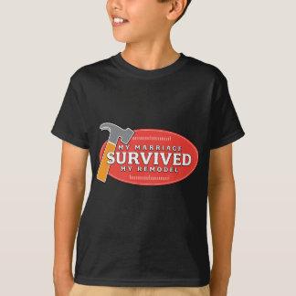 Mi boda sobrevivió mi remodela la camiseta