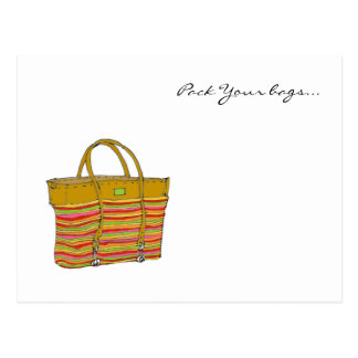 mi bolso, embala sus bolsos… postal