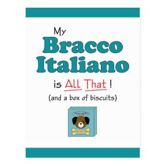 ¡Mi Bracco Italiano es todo el eso! Postal