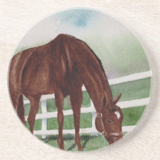 Mi caballo posavasos de arenisca