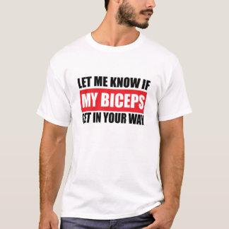 Mi camiseta divertida de la aptitud del bíceps