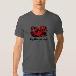 Mi camiseta roja del dragón de Sigil de la casa me